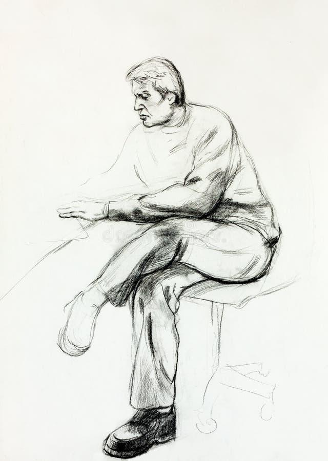 Portret starszy mężczyzna ilustracja wektor