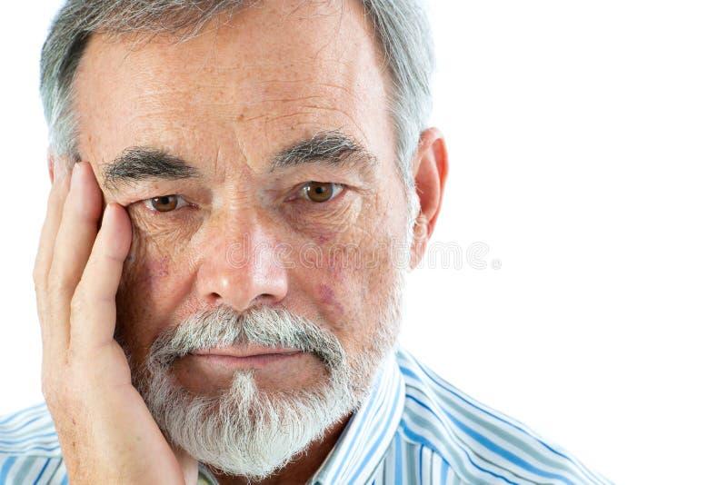 Portret starszy mężczyzna obraz royalty free