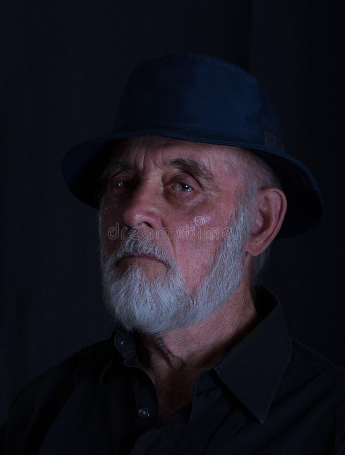 Portret starszy mężczyzna z wąsy i brodą obrazy stock