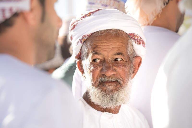 Portret starszy Omani mężczyzna obrazy stock