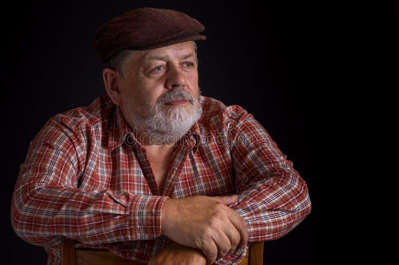Portret starszy Ukraiński chłop zdjęcia stock