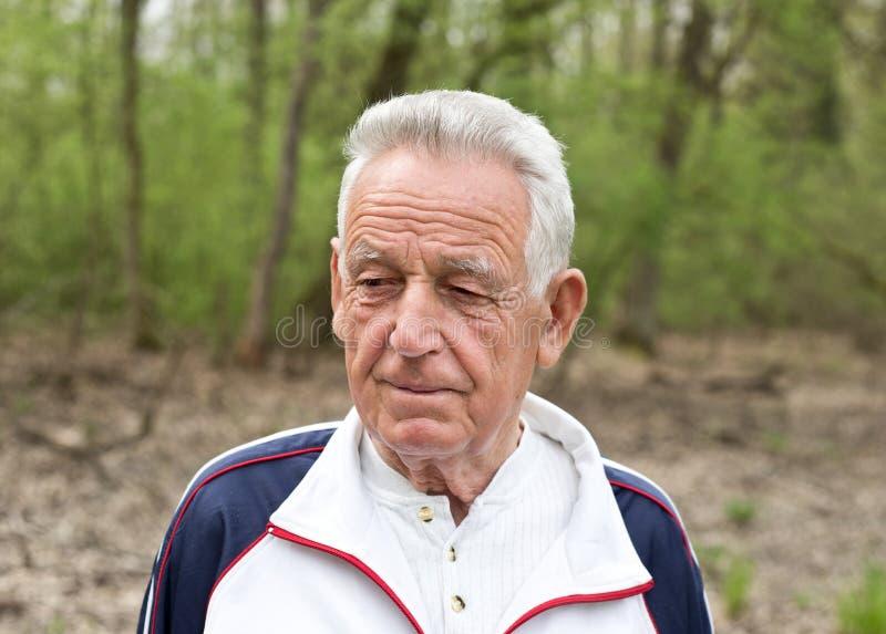 Portret stary człowiek zdjęcie royalty free