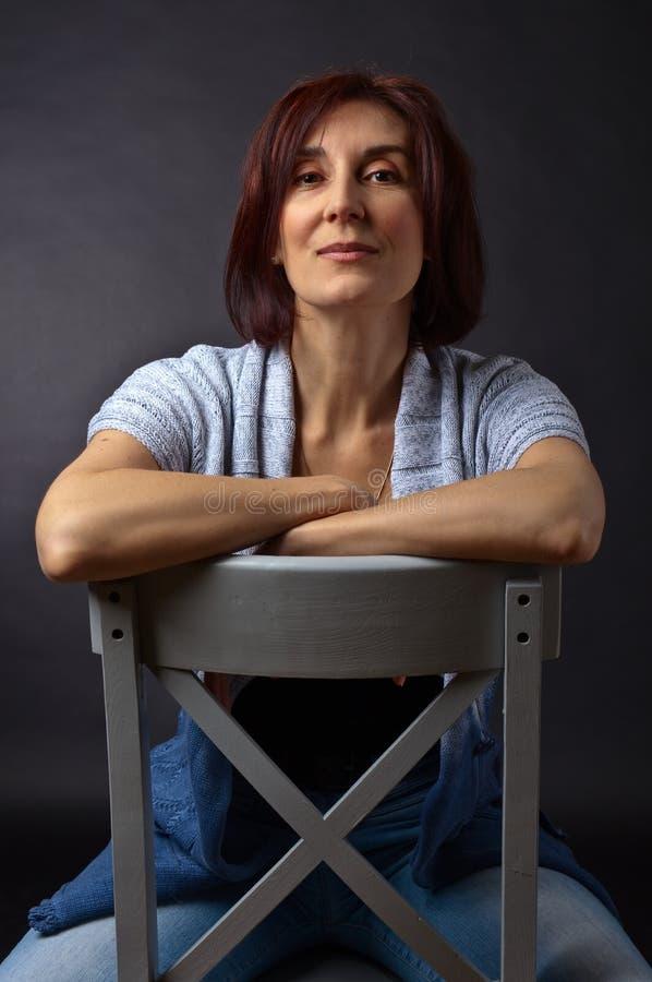 portret starzejąca się środkowa kobieta zdjęcia stock
