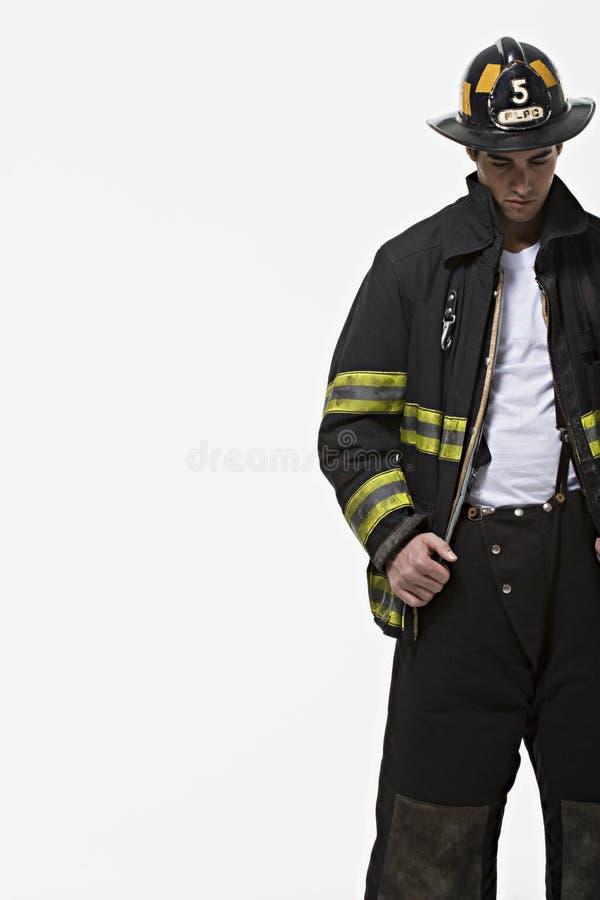 Portret strażak fotografia stock
