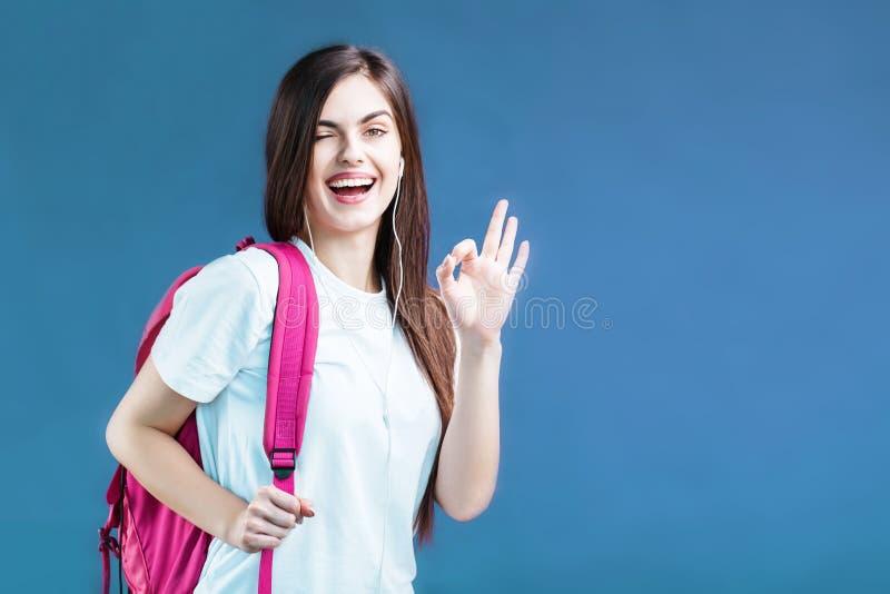 Portret studencka dziewczyna zdjęcia royalty free