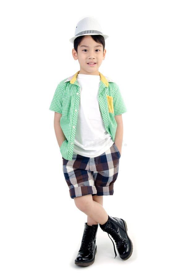 Portret Szczęśliwa azjatykcia śliczna chłopiec obraz stock
