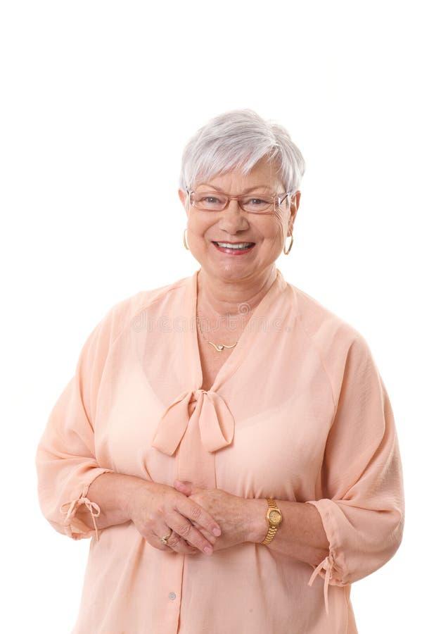 Portret szczęśliwa babcia obraz stock