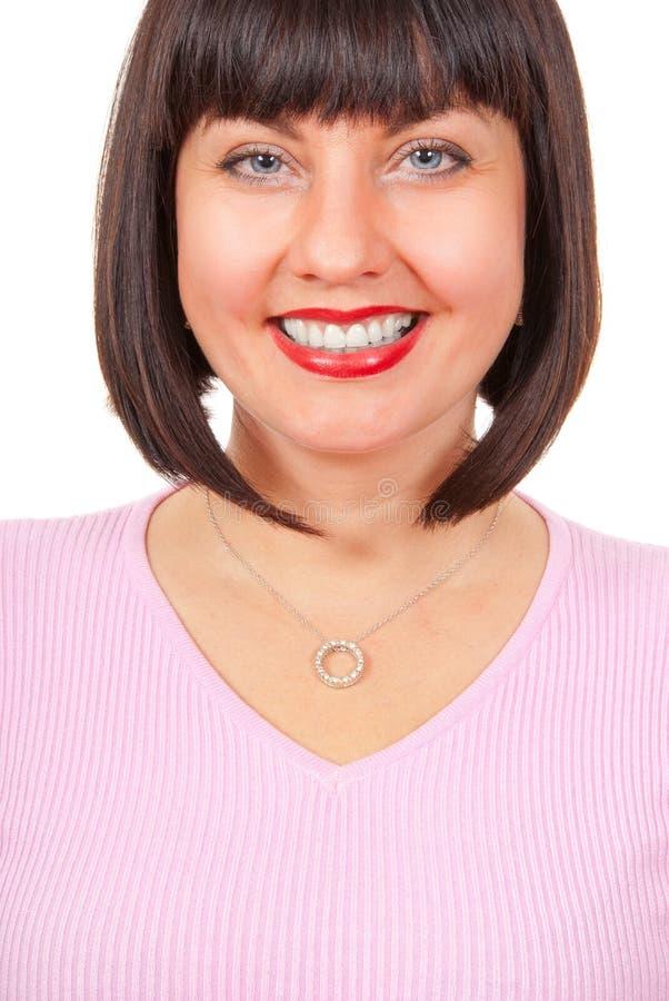portret szczęśliwa dojrzała kobieta fotografia stock