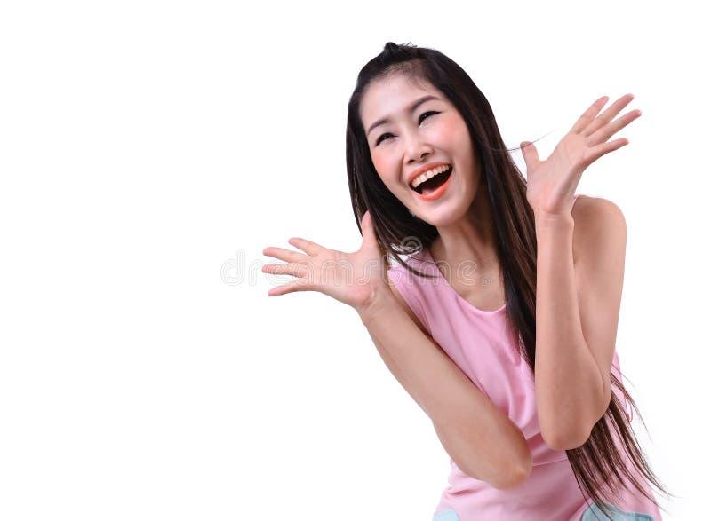 Portret szczęśliwa kobieta obraz stock