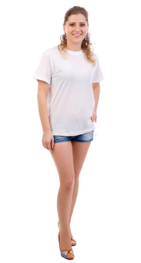 Portret szczęśliwa młoda kobieta fotografia stock