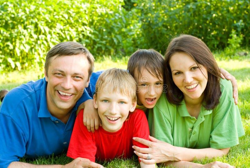 Portret szczęśliwa rodzina fotografia royalty free