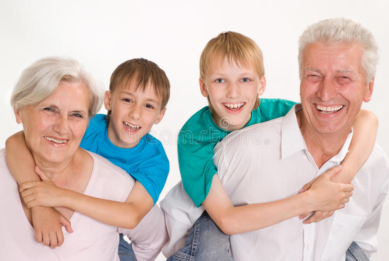 Portret szczęśliwa rodzina zdjęcie royalty free