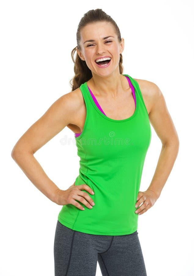 Portret szczęśliwa zdrowa młoda kobieta fotografia stock