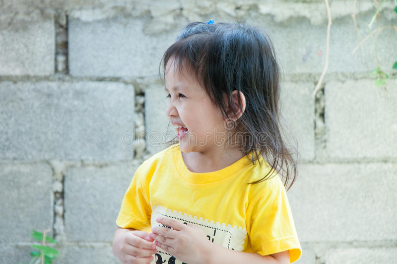 Portret szczęśliwy śliczny dziecko zdjęcie stock