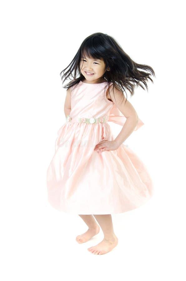 Portret Szczęśliwy azjatykci śliczny gril zdjęcia royalty free