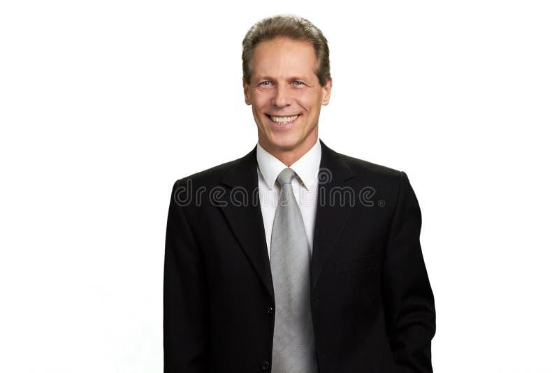 Portret szczęśliwy rozochocony biznesmen fotografia stock