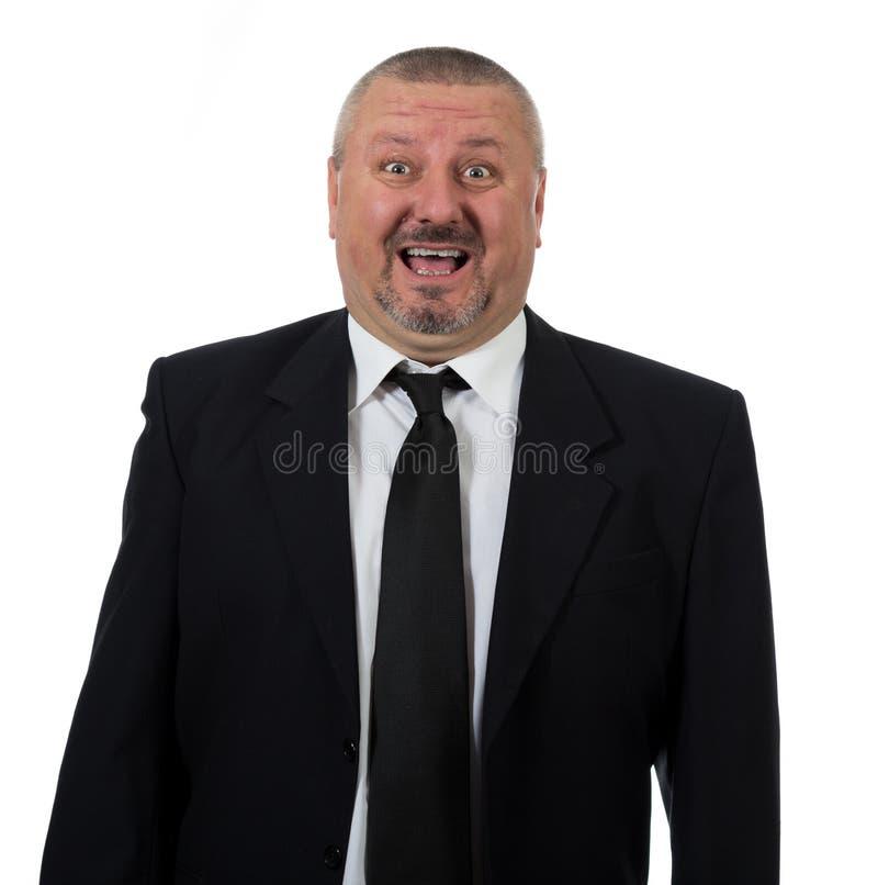 Portret szczęśliwy starszy biznesowego mężczyzna ono uśmiecha się zdjęcia stock