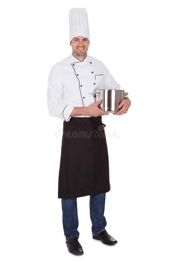 Portret szczęśliwy szef kuchni obraz stock