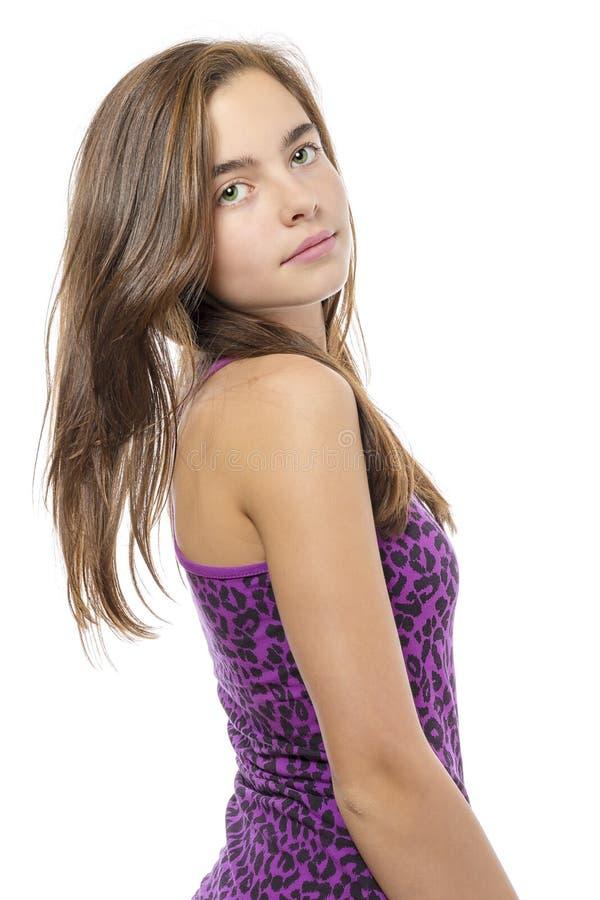Portret szczęsliwa nastolatek dziewczyna zdjęcie royalty free