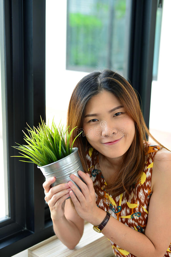 Portret Tajlandzka dziewczyna zdjęcia stock