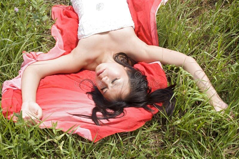 Portret target52_0_ dziewczyny obrazy royalty free