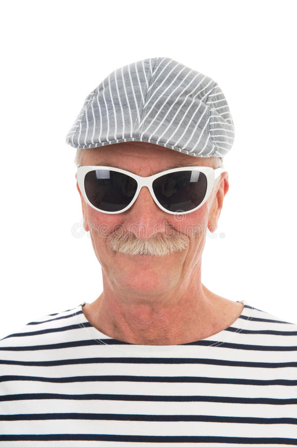 Portret teruggetrokken mens stock foto's