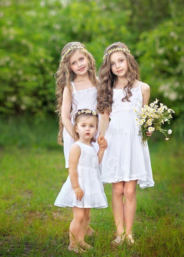 Portret trzy młodej dziewczyny zdjęcie stock