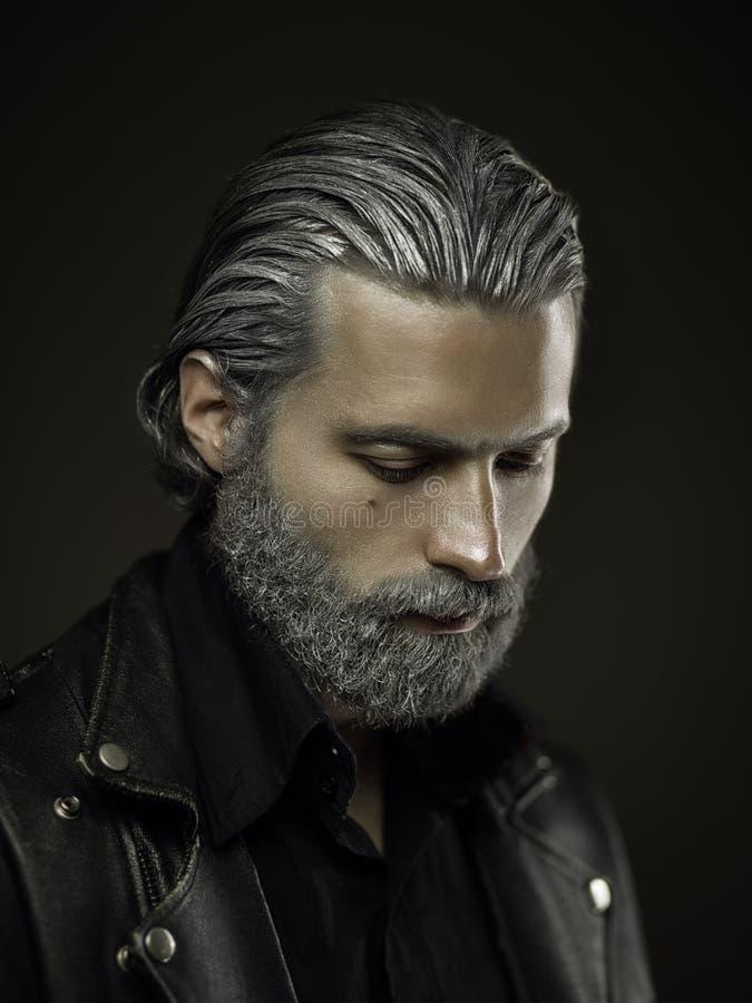 Portret twardy stary człowiek obraz stock