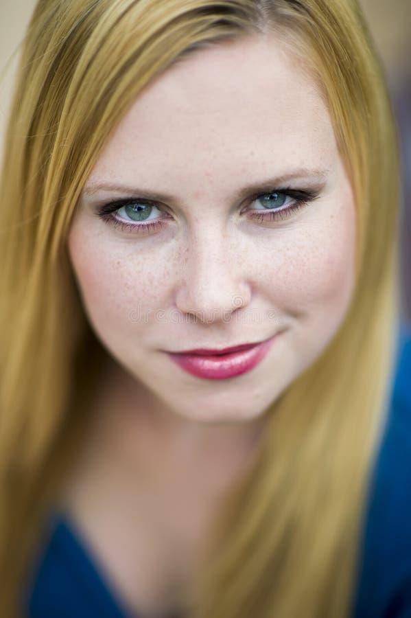 Portret twarz istna piękna kobieta obrazy royalty free