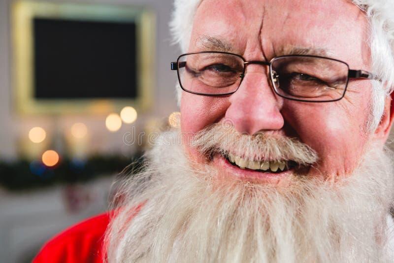 Portret uśmiechać się Santa Claus fotografia royalty free