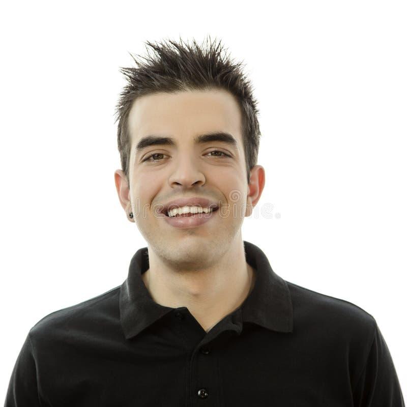 Portret uśmiechnięty szczęśliwy młody człowiek obrazy royalty free