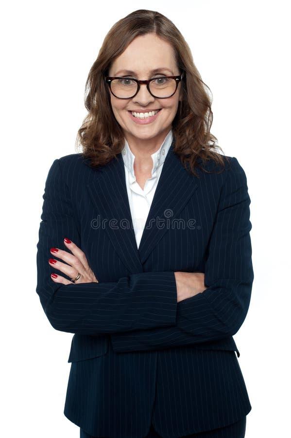 Portret ufny bizneswoman zdjęcie stock