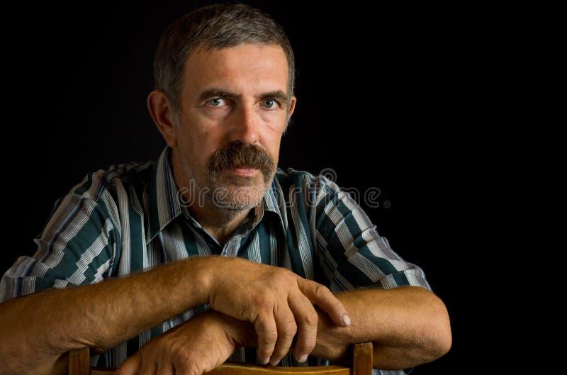 Portret Ukraiński chłop obrazy stock