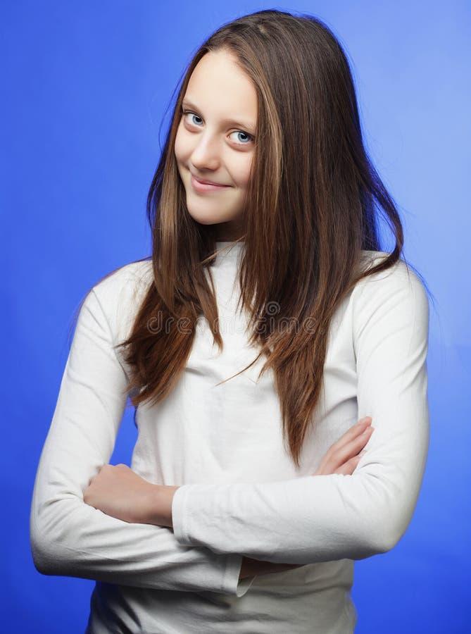 Portret urocza mała dziewczynka zdjęcie royalty free