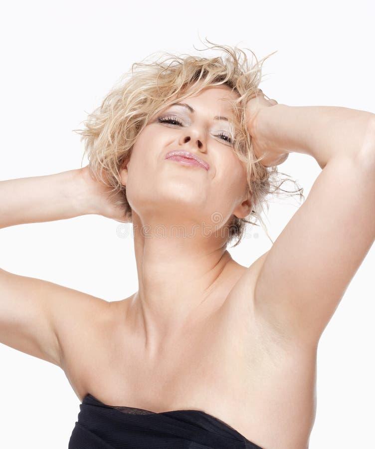 Portret Uwodzicielska młoda kobieta zdjęcia stock