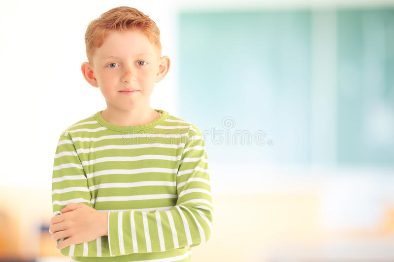 Portret van aanbiddelijk kind stock foto