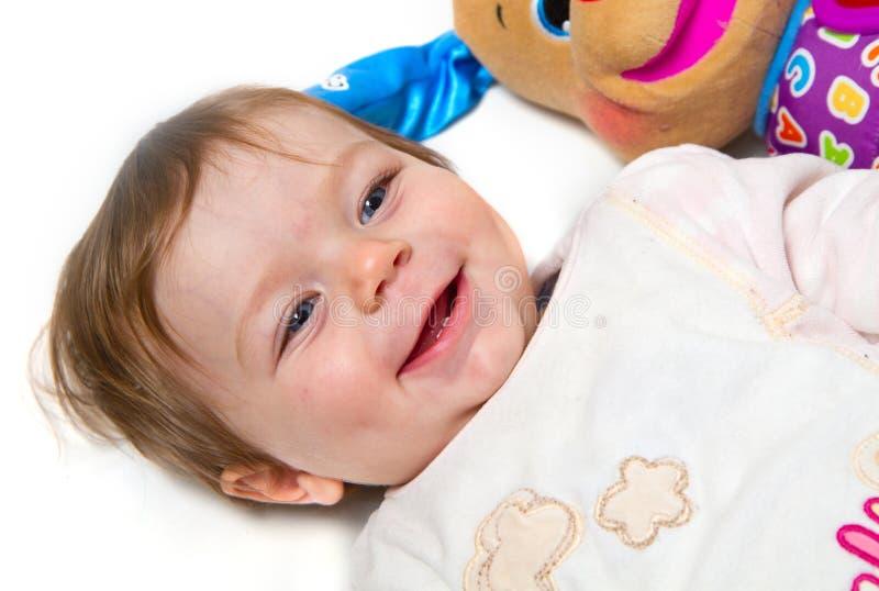 Download Portret Van Aanbiddelijke Baby Stock Afbeelding - Afbeelding bestaande uit pret, emotie: 29511635