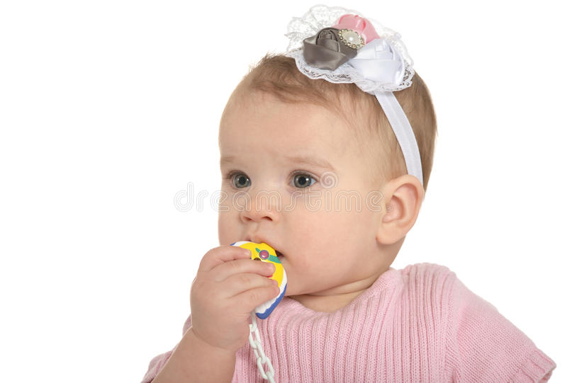 Portret van aanbiddelijke baby stock foto
