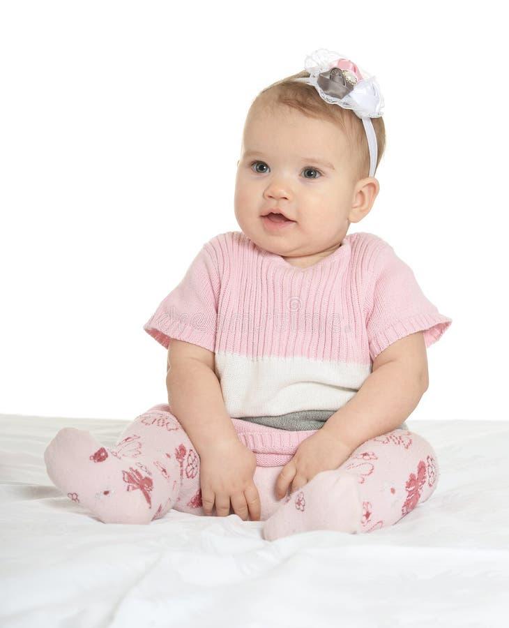 Portret van aanbiddelijke baby royalty-vrije stock afbeelding