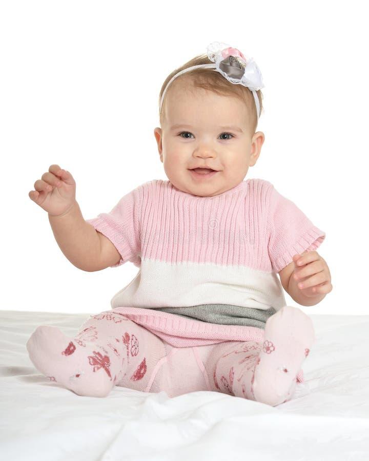 Portret van aanbiddelijke baby stock foto's