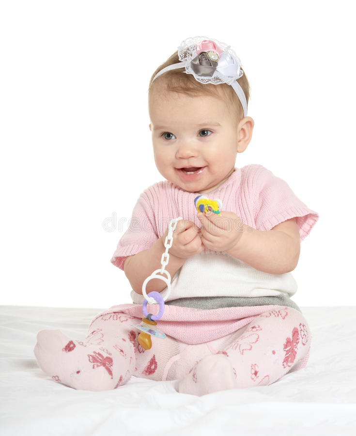 Portret van aanbiddelijke baby royalty-vrije stock afbeeldingen