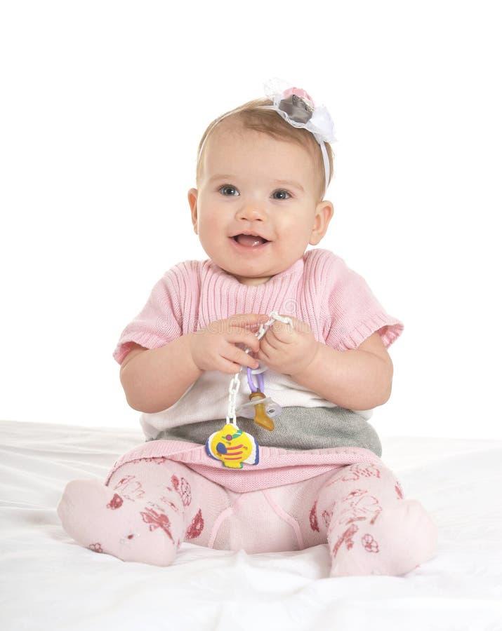 Portret van aanbiddelijke baby stock afbeeldingen
