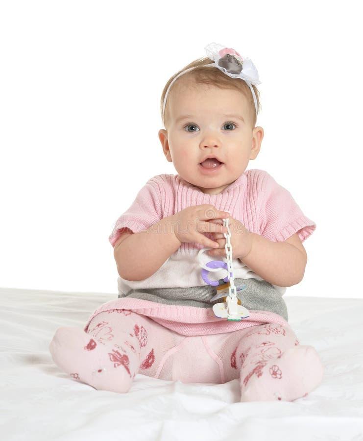 Portret van aanbiddelijke baby stock afbeelding