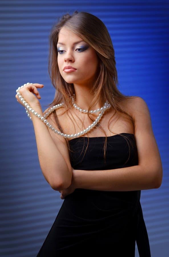 Portret van aantrekkelijke vrouw royalty-vrije stock foto's