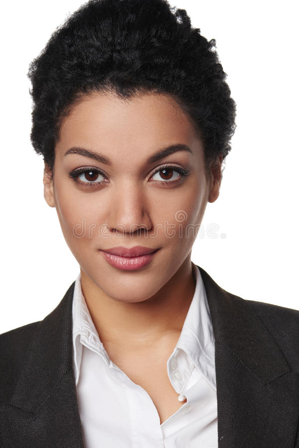 Portret van Afrikaanse Amerikaanse bedrijfsvrouw stock foto's