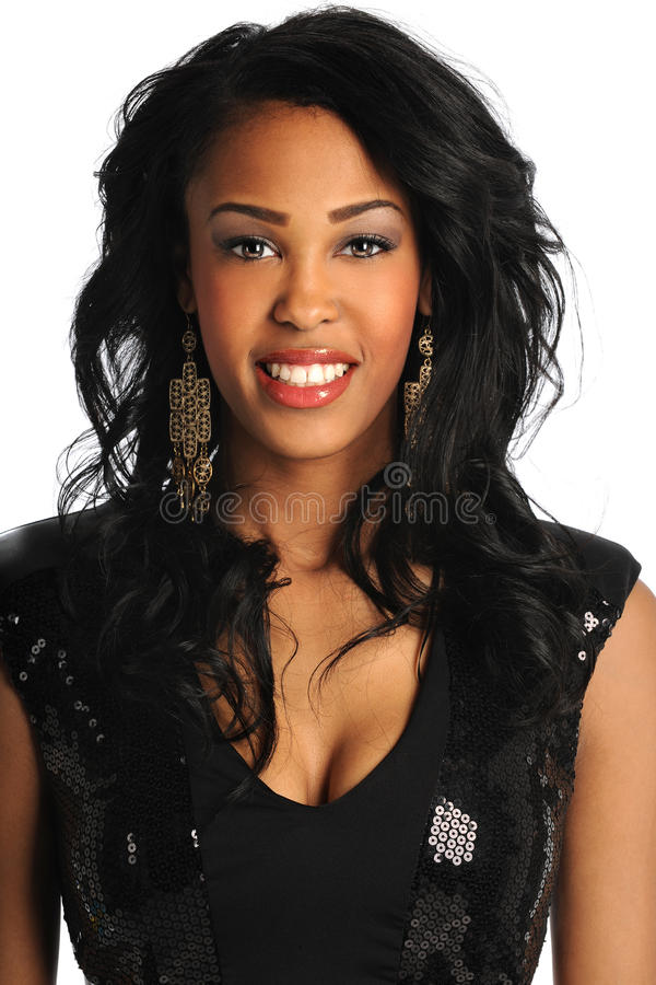 Portret van Afrikaanse Amerikaanse Vrouw stock fotografie
