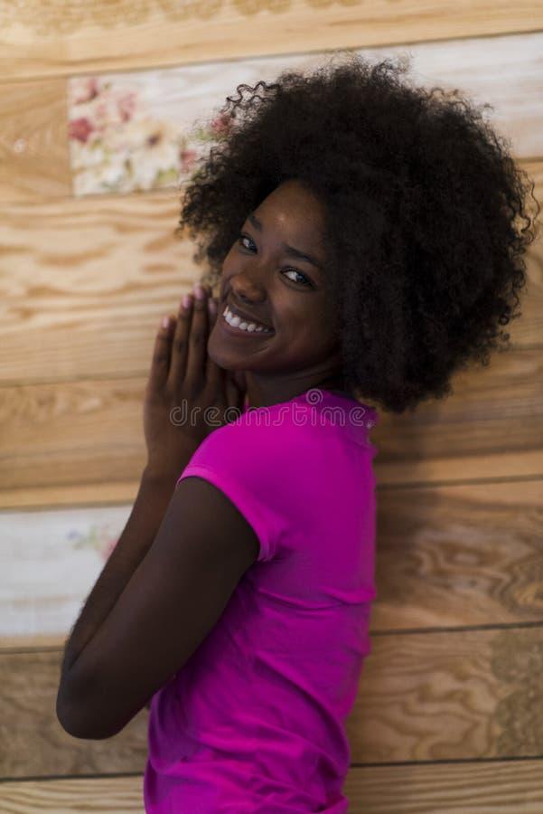 Portret van afro Amerikaanse vrouw royalty-vrije stock foto's
