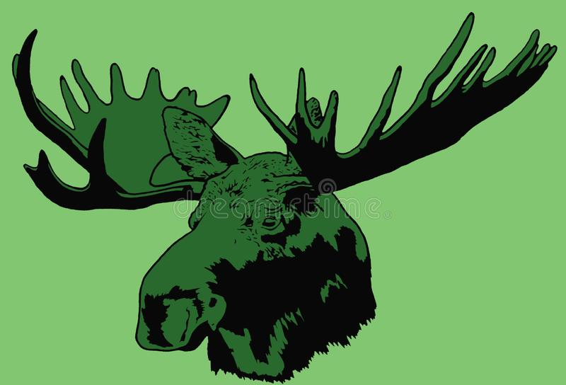 Portret van Amerikaanse elanden stock illustratie