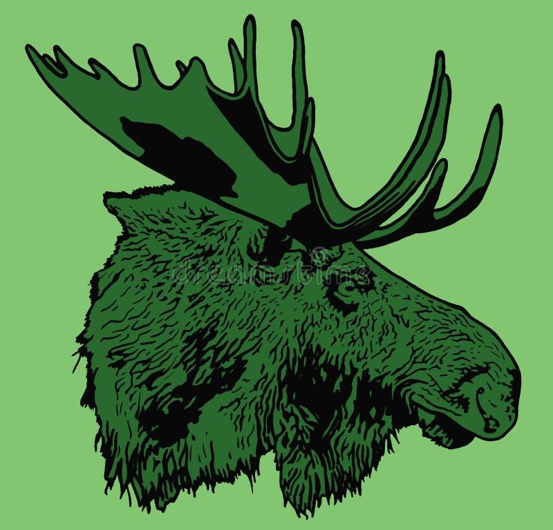 Portret van Amerikaanse elanden vector illustratie