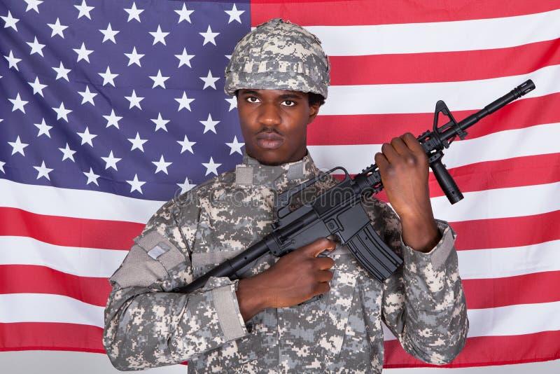 Portret van Amerikaanse Militair royalty-vrije stock foto